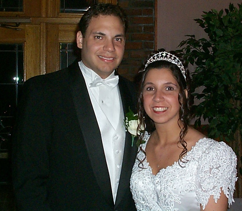 A bride and groom; Actual size=180 pixels wide