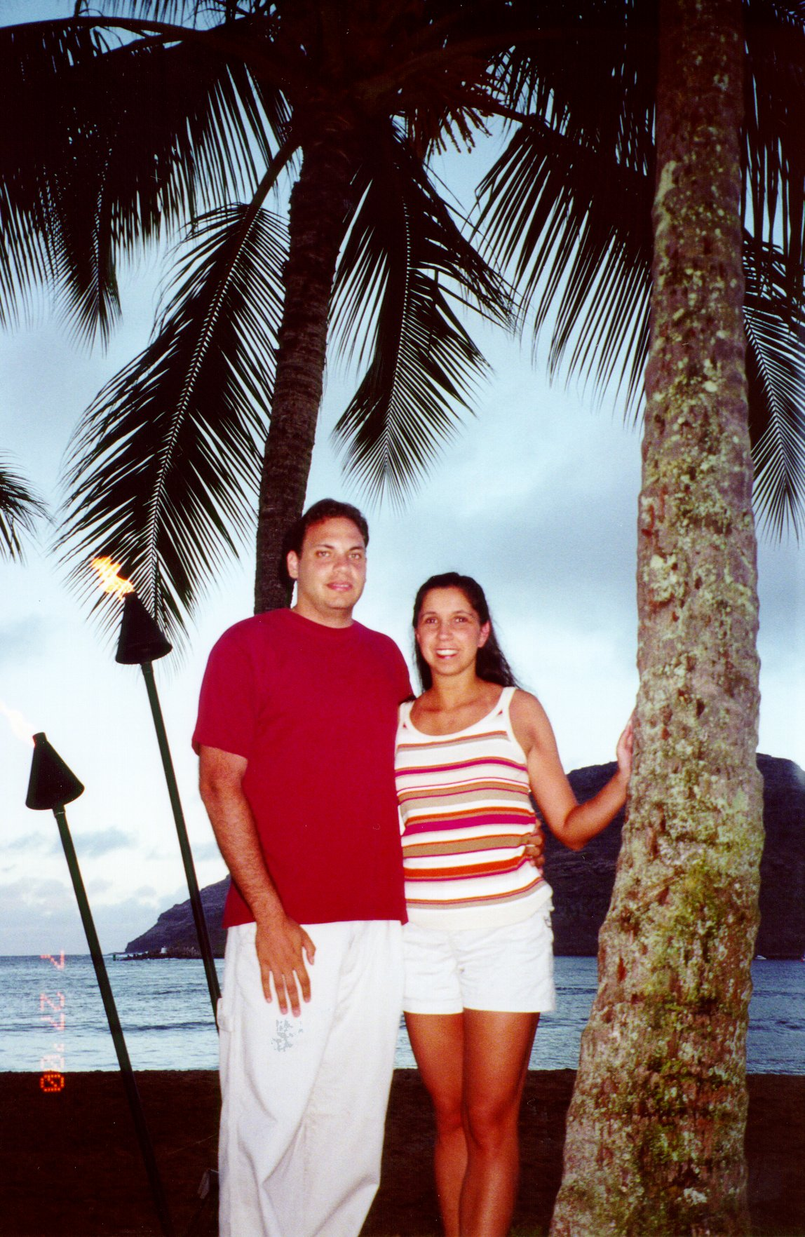 Gilda and John in Hawaii; Actual size=240 pixels wide